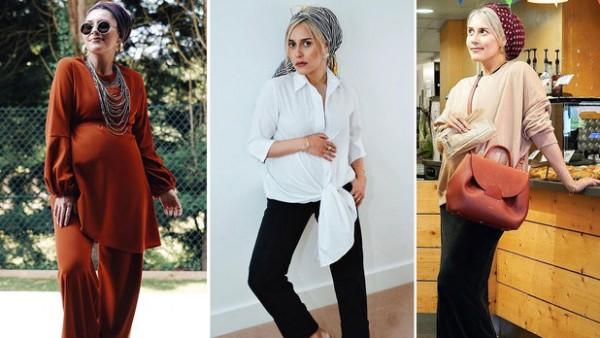 c74611f766f28 دينا طوكيو تعرض لكم في ١٢ صورة أجمل ملابس الحوامل للمحجبات