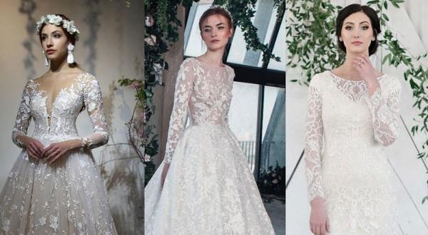 fdd159daa صور فساتين زفاف بأكمام من أحدث موديلات 2019 | دنيا الوطن