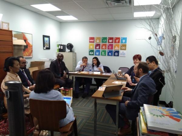 اجتماع تنسيقي بين قادة المجموعات العالمية المنبثقة عن منتدي التنمية المستدامة