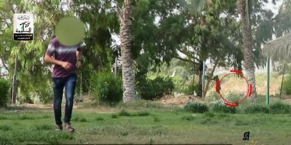 """شاهد: نجاة مجموعة من """"ألوية الناصر"""" من قصف إسرائيلي خلال التصعيد الأخير"""