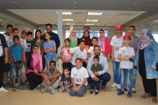 المخيم الصيفي (الصحفي الصغير) في جولة داخل تلفزيون فلسطين