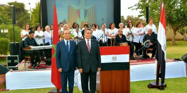 سفارة مصر بالمغرب تحتفل بالعيد الوطني بحضور شخصيات مغربية ومصرية بارزة