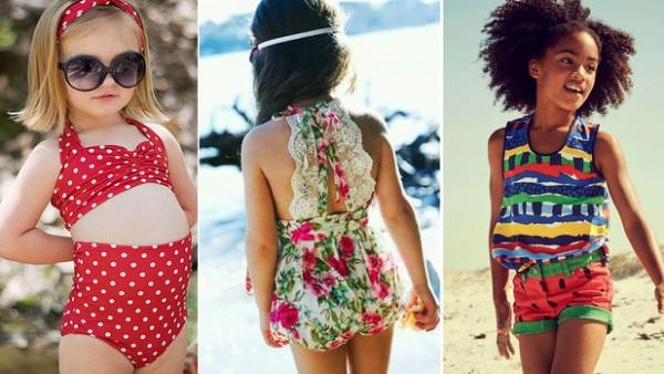 33e7f374e شاهدي أجمل موديلات ملابس أطفال بنات على البحر | دنيا الوطن