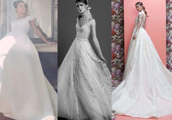 762791bd5 موديلات فساتين زفاف 2019 تخفي القامة القصيرة | دنيا الوطن