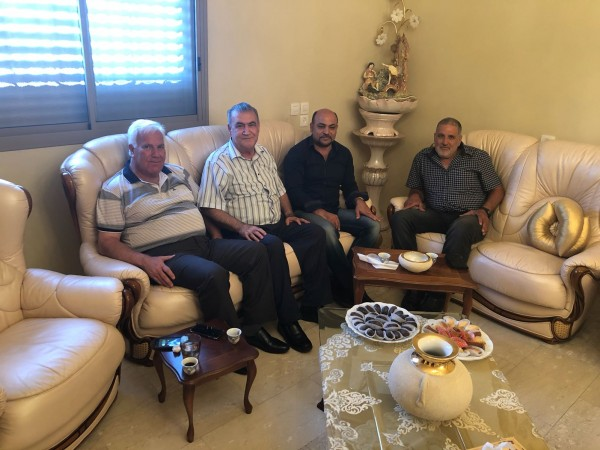 غنايم في زيارة تضامن لرئيس ومهندس مجلس كفر ياسيف المحلي إثر الاعتداء عليهما