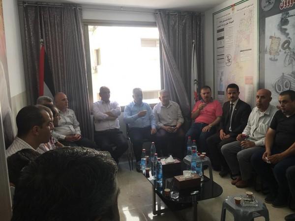 جبهة النضال الشعبي الفلسطيني بنابلس تنظم حفل استقبال بمناسبة مرور الذكرى51 لانطلاقتها