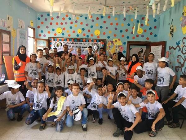 مخيم نادي شباب رفح يزرع بذور الأمل وحب العمل والعطاء