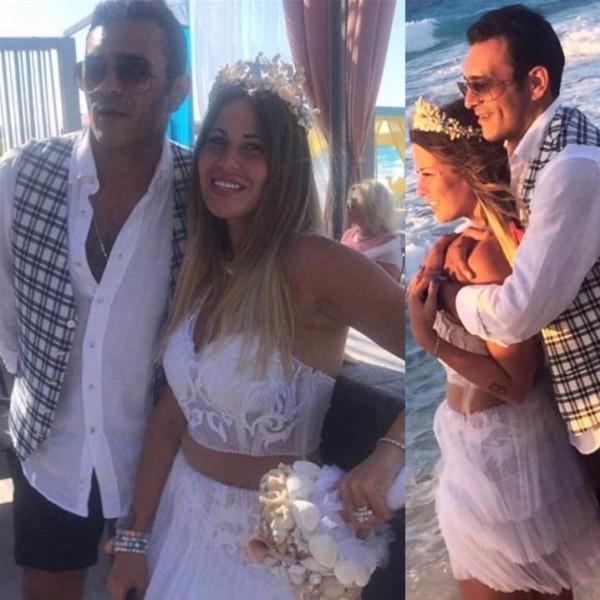 """شاهد زفاف منة حسين فهمي بفستان على هيئة مايوه.. و""""كاش مايوه"""" ريم البارودي"""