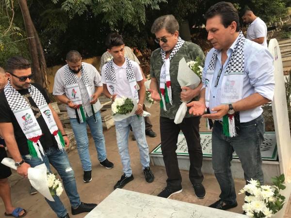 أكاليل الزهر على أضرحة شهداء قادة الثورة الفلسطينية في بيروت