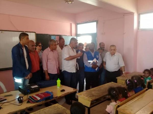 المدير العام للهيئة العامة للاجئين الفلسطينين العرب في زيارة تفقدية لمخيم الرمدان