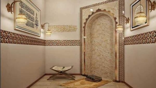 """""""مسجد مصغر"""".. 8 أفكار لتصميم غرفة صلاة داخل المنزل"""