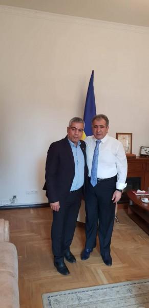 سفير فلسطين في أوكرانيا يستقبل مفوض التجمع الفلسطيني للوطن والشتات
