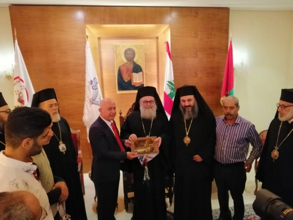 الديمقراطية تلتقي البطريرك يوحنا اليازجي
