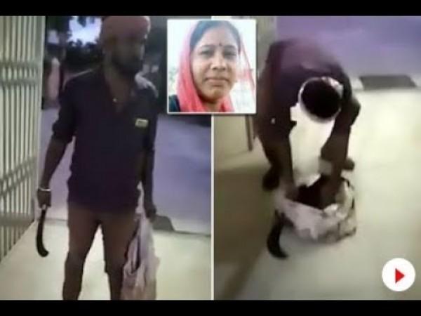 شاهد: رجل يدخل قسم شرطة برأس زوجته المقطوع بعد ما اكتشفه عنها