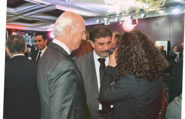 السفير عبد الهادي يلتقي في جنيف السيد ستيفاني ديمستورا المبعوث الخاص للامم المتحدة لعملية