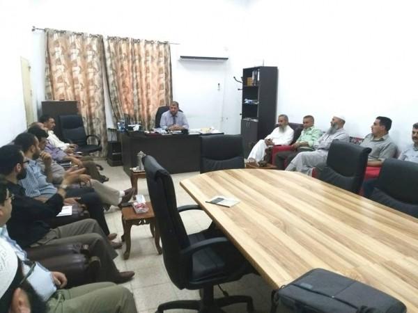 كلية الدعوة الإسلامية في قلقيلية تعقد اجتماعا للهيئة الأدارية والاكاديمة