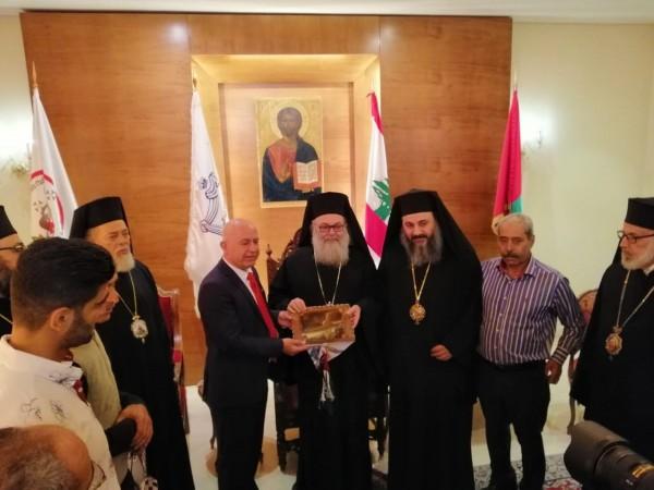 الديمقراطية تلتقي البطريارك يوحنا اليازجي بطريرك أنطاكيا وسائر المشرق العربي