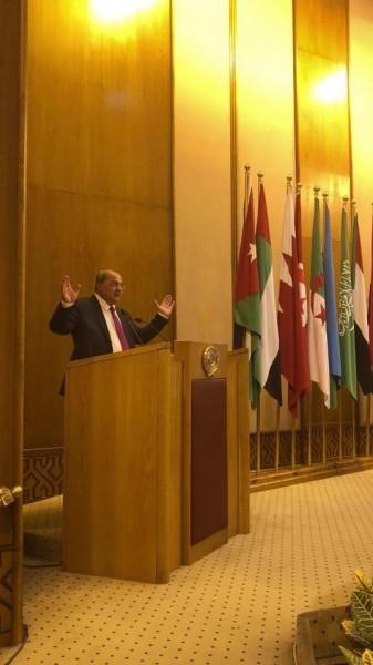 لأول مرة في تاريخ جامعة الدول العربية قيادي من الداخل يلقي خطابا امام الجامعة