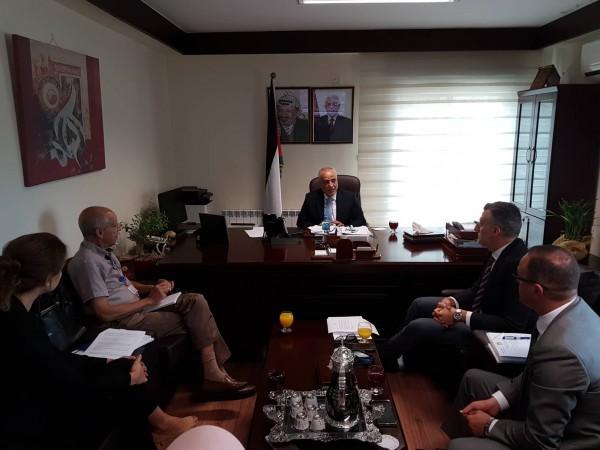 اجتماع بين رئيس ديوان الفتوى والتشريع والبعثة الأوروبية لمساندة الشرطة الفلسطينية