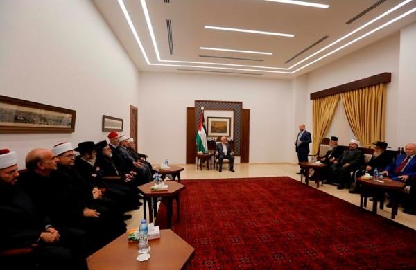 قيادات دينية تجدد دعمها للرئيس عباس قبل توجهه للأمم المتحدة