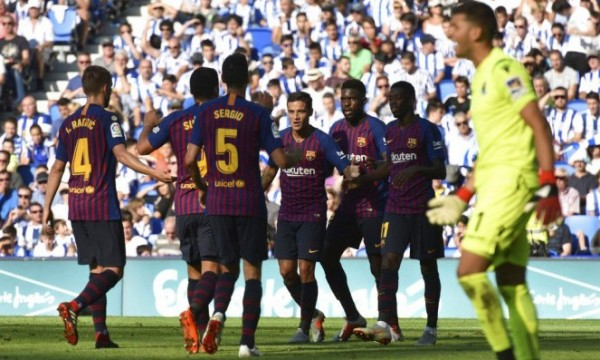 برشلونة يهزم ريال سوسييداد بهدفين مقابل هدف