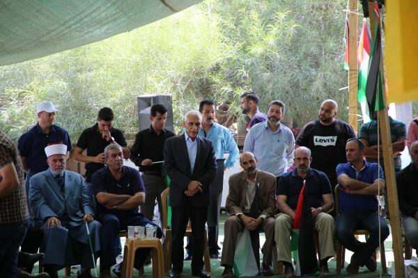 وزارة الداخلية الفلسطينية تزور تجمع الخان الأحمر