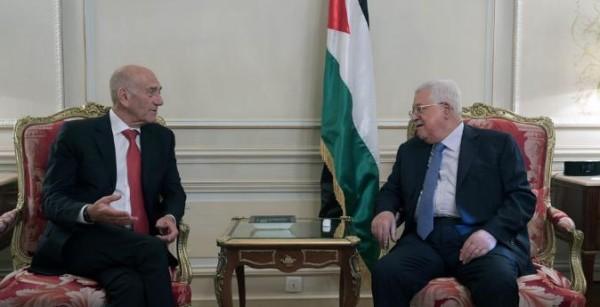 الرئيس عباس يلتقي أولمرت في باريس وهذا ما قاله الأخير