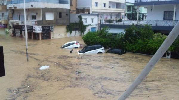 فيديو: فيضانات تضرب تونس وتخلف خسائر بشرية ومادية