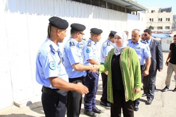 غنام ووكيل نيابة رام الله ومدير الشرطة يتفقدون مركز تأهيل وإصلاح رام الله