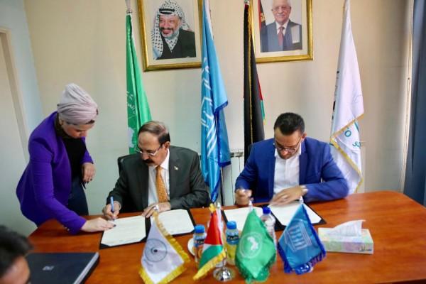 """""""اللجنة الوطنية"""" و""""محافظة القدس"""" توقعان اتفاقية دعم مؤتمر الإعلام في عيون القدس"""
