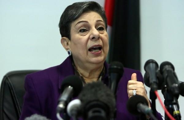 عشراوي تطلع ممثلي البعثات الدبلوماسية لدى دولة فلسطين على آخر التطورات السياسية