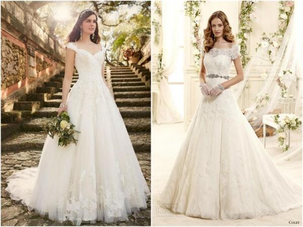 af27ff1e99955 صور  فساتين زفاف للعروس القصيرة لإطلالة مبهرة