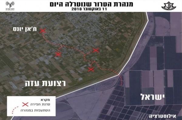 الجيش الإسرائيلي يدعي اكتشاف نفق جنوب القطاع.. وليبرمان يُعلق