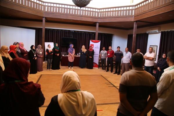 برنامج غزة للصحة النفسية يختتم دورة تدريبية بعنوان إدارة الضغوط والرعاية الذاتية
