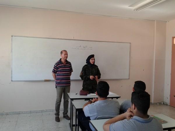 مفوضية رام الله ووحدة الدّعم النّفسي تنظمان محاضرة في مدرسة ذكور عين مصباح الثانوية