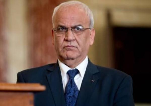 عريقات لحماس: إسرائيل خيّرتنا ما بين المفاوضات والمصالحة ونحن اخترنا الوحدة الوطنية