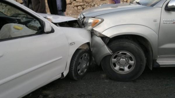 إصابة خمسة مواطنين في حادث سير جنوب جنين