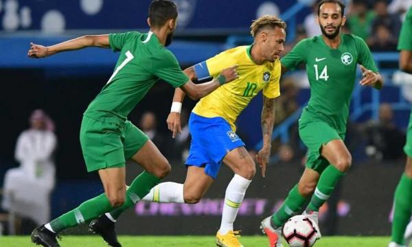 البرازيل تكتفي بهدفين في الأخضر السعودي ضمن البطولة الرباعية الودية