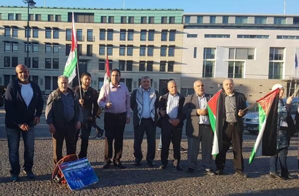 وقفة إحتجاجيّة في برلين تضامناَ مع قرية الخان الأحمر ومسيرات العودة الكبرى