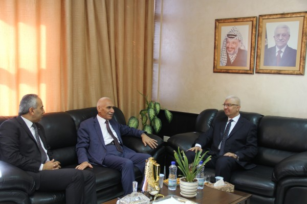 وكيل وزارة الداخلية يستقبل المستشار مصطفى الشحات