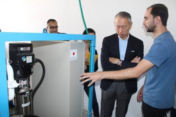السفير الياباني يفتتح مشروع محطة تحلية مياه الشرب في مدينة رفح