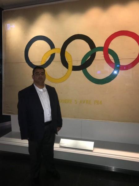 """في إطار جولته الخارجية.. هنية يزور المتحف الأولمبي بمدينة """"لوزان"""" السويسرية"""