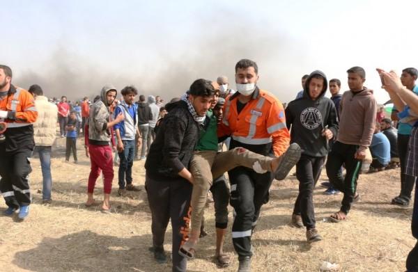 إصابة مواطنيْن برصاص الاحتلال شرق دير البلح