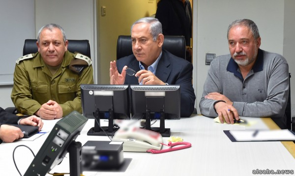 نتنياهو يعقد جلسة مشاورات أمنية بمشاركة ليبرمان على خلفية الوضع في غزة