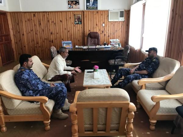 العميد التميمي يلتقي مدير عام الديس الشرقية ومدير أمنها