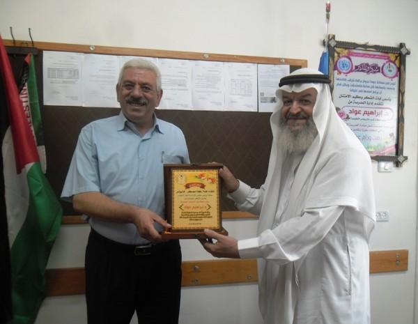 زكاة معسكر خان يونس تكرم د.إبراهيم عواد