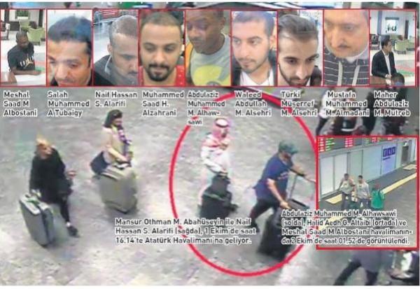 """شاهد: تركيا تنشر صوراً جديدة لـ """"متورطين"""" في قضية خاشقجي"""