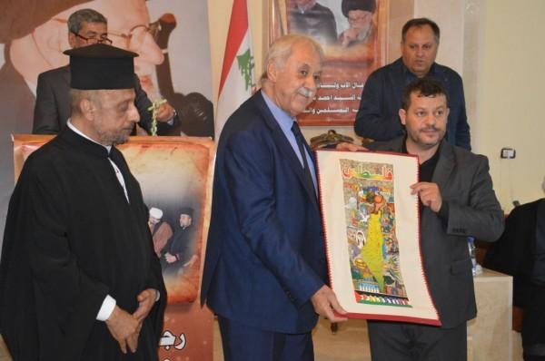 فتح في اقليم لبنان تكرم نائب رئيس اللجنة الاولمبية الفلسطينية اللواء زيداني