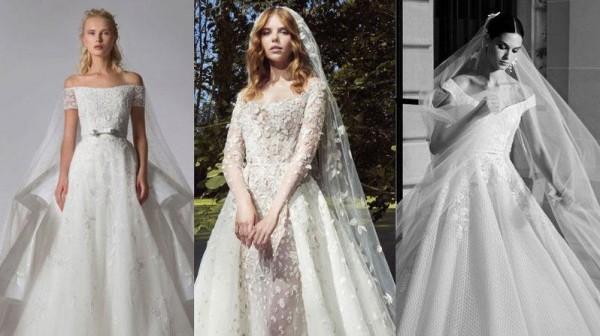 2ff926abd66ba فساتين زفاف لبنانية 2019 من أسبوع العروس الخريفي