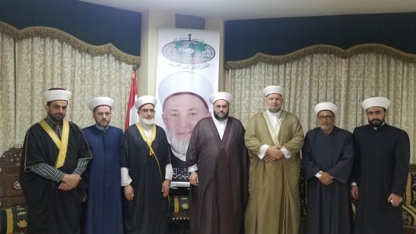 مجلس علماء فلسطين في لبنان يزور حركة الامة
